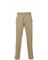 Pantalón chino marrón claro de Dell'oglio