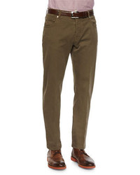 Pantalón chino marrón de Kiton