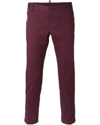 Pantalón chino morado de DSQUARED2