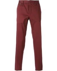 Pantalón chino rojo de Incotex