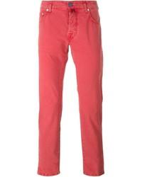 Pantalón chino rojo de Jacob Cohen
