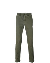 Pantalón chino verde oliva de Moncler