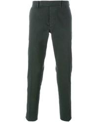 Pantalón chino verde oscuro de Fendi