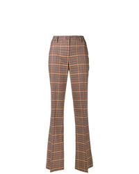 Pantalón de campana a cuadros marrón de P.A.R.O.S.H.
