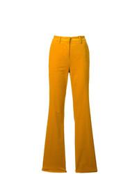 Pantalón de campana amarillo de Etro