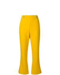 Pantalón de campana amarillo de MSGM