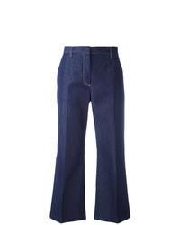 Pantalón de campana azul marino de MSGM