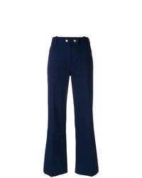 Pantalón de campana azul marino de Tory Burch