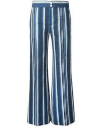 Pantalón de campana azul de Chloé