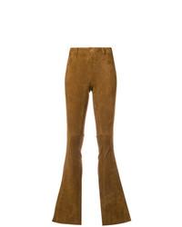 Pantalón de campana de ante mostaza de Sylvie Schimmel