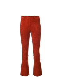 Pantalón de campana de cuero naranja de Stouls