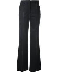 Pantalón de Campana de Lana en Gris Oscuro de Salvatore Ferragamo