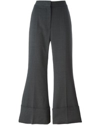 Pantalón de campana de lana en gris oscuro de Stella McCartney