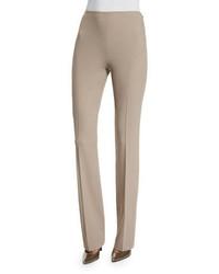 Pantalón de campana de lana marrón claro de Ralph Lauren