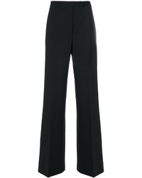Pantalón de Campana de Lana Negro de Alberta Ferretti