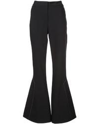 Pantalón de Campana de Lana Negro de Ellery