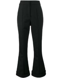 Pantalón de Campana de Lana Negro de Jacquemus