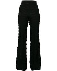 Pantalón de campana de lana negro de M Missoni