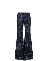 Pantalón de campana de lentejuelas azul marino de P.A.R.O.S.H.