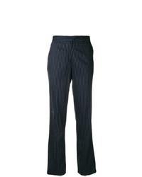 Pantalón de campana de rayas verticales azul marino de Golden Goose Deluxe Brand
