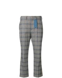 Pantalón de campana de tartán gris de The Gigi