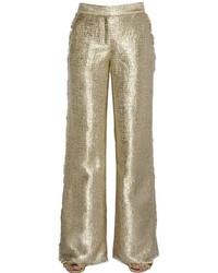 Pantalón de Campana Dorado de Gianluca Capannolo