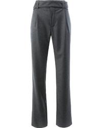Pantalón de campana en gris oscuro de Saint Laurent