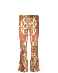 Pantalón de campana naranja de Christian Dior Vintage