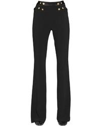 Pantalón de Campana Negro de PIERRE BALMAIN