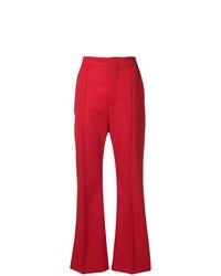 Pantalón de campana rojo de Marni