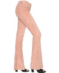 Pantalón de campana rosado
