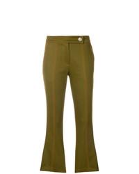 Pantalón de campana verde oliva de MSGM