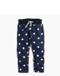 Pantalón de chándal a lunares azul marino de J.Crew