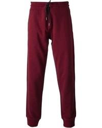 Pantalón de chándal burdeos de Armani Jeans
