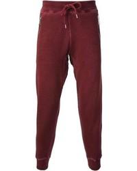Pantalón de chándal burdeos de DSquared