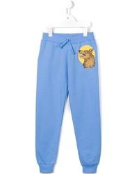 Pantalón de chándal celeste de Mini Rodini