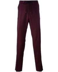 Pantalón de chándal de lana burdeos de Kenzo