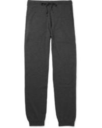 Pantalón de chándal de lana en gris oscuro