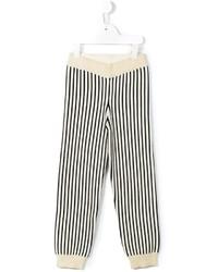 Pantalón de chándal de rayas verticales en beige