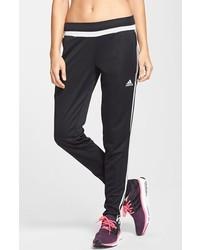 Pantalón de chándal de rayas verticales en negro y blanco de adidas