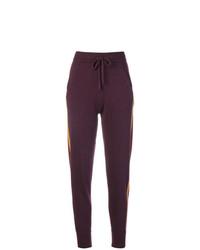 Pantalón de chándal de rayas verticales morado oscuro de N.Peal