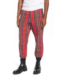 Pantalón de chándal de tartán rojo