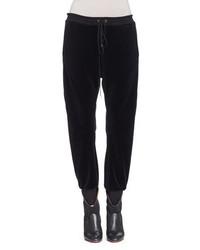 Pantalón de chándal de terciopelo negro de Chloé