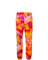 Pantalón de chándal efecto teñido anudado naranja de MSGM