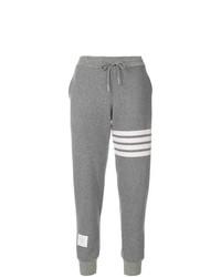 Pantalón de chándal estampado gris de Thom Browne