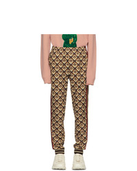 Pantalón de chándal estampado marrón