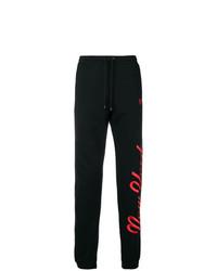 Pantalón de chándal estampado negro de Marcelo Burlon County of Milan