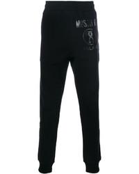 Pantalón de chándal estampado negro de Moschino