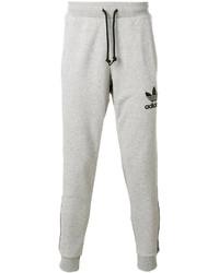Pantalón de chándal gris de adidas