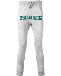 Pantalón de chándal gris de DSQUARED2
